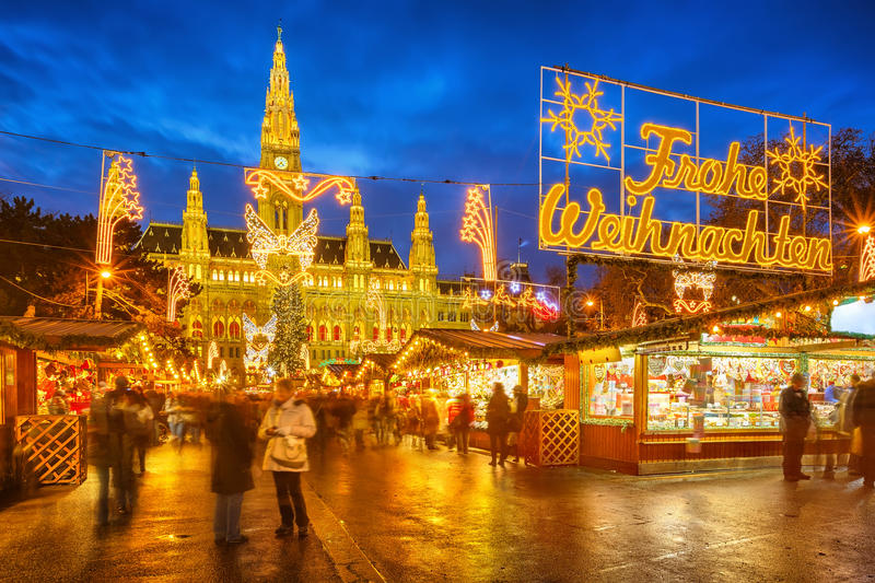Christmas Market In Vienna Royalty Free Stock Photography