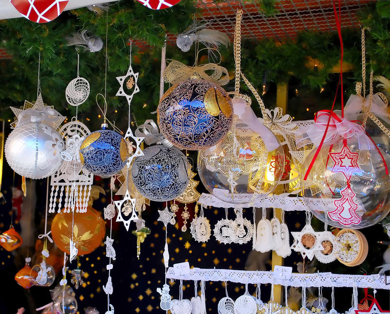 Christmas markets i. N South Tyrol, Italy stock photography