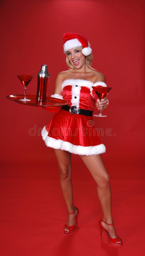 Christmas Martini royalty free stock photo