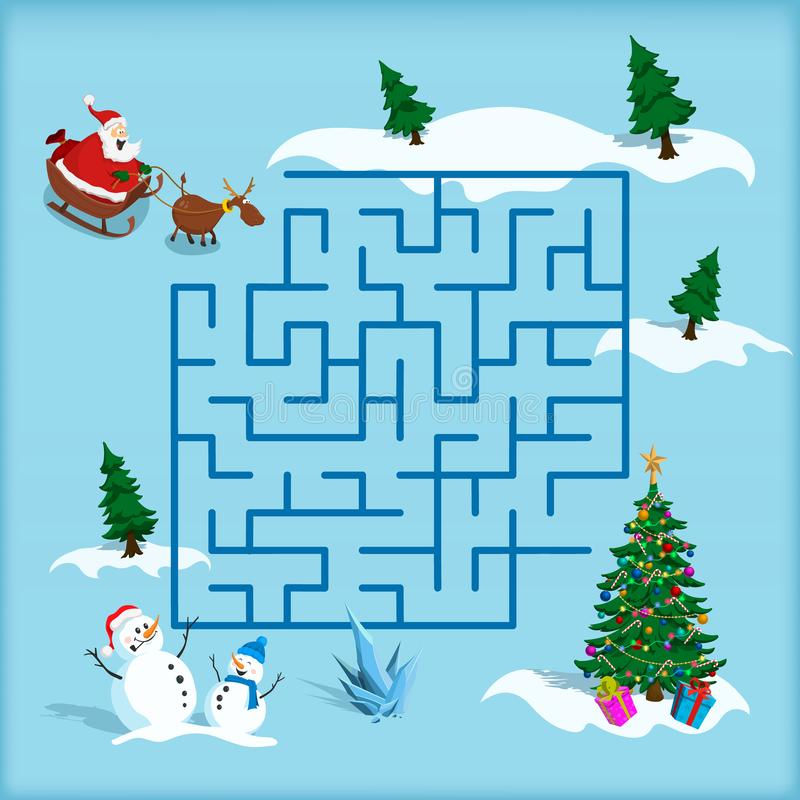 Christmas Tree Tangram: Puzzle Christmas Tree Stock Illustration. Illustration Of