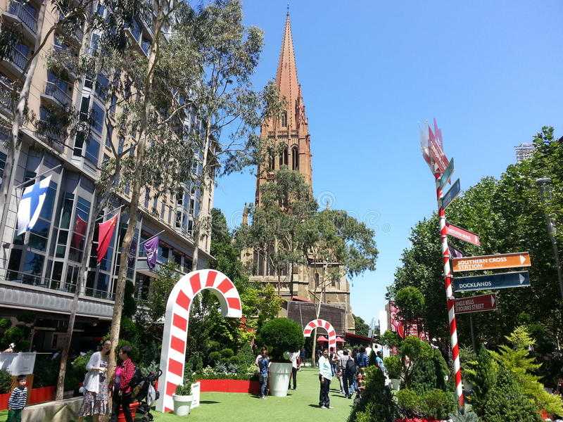 Christmas melbourne of australia stock image