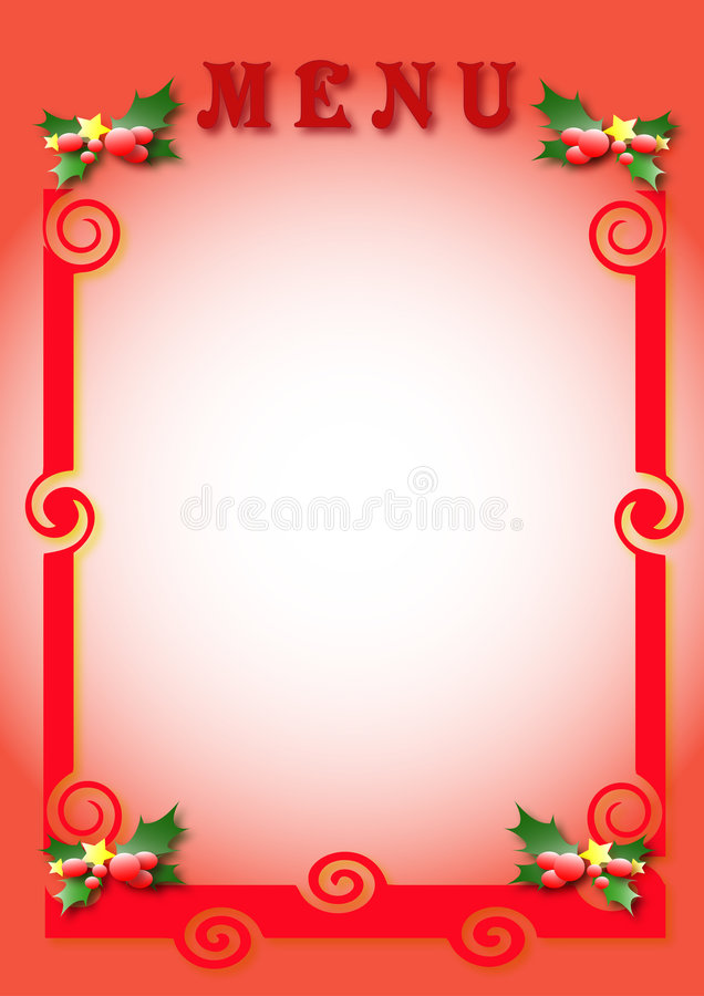 Download Christmas menu stock illustration. Image of pink, plate - 2226879