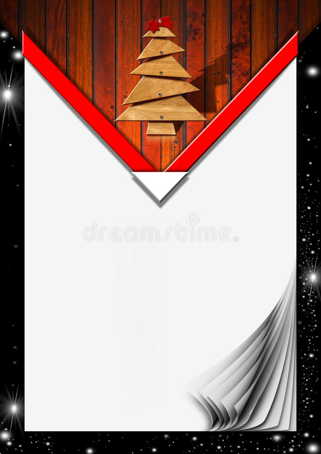 Download Christmas Menu With Blank Pages Stock Illustration - Image: 31569897