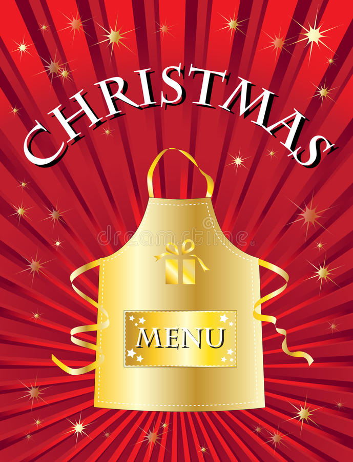 Download Christmas menu red stock vector. Image of illustration - 14916730