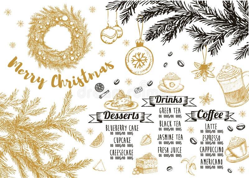 Christmas menu.Restaurant cafe menu, template design. Food flyer. Restaurant menu.Restaurant menu. Food flyer. Template design. Christmas menu. Restaurant menu vector illustration