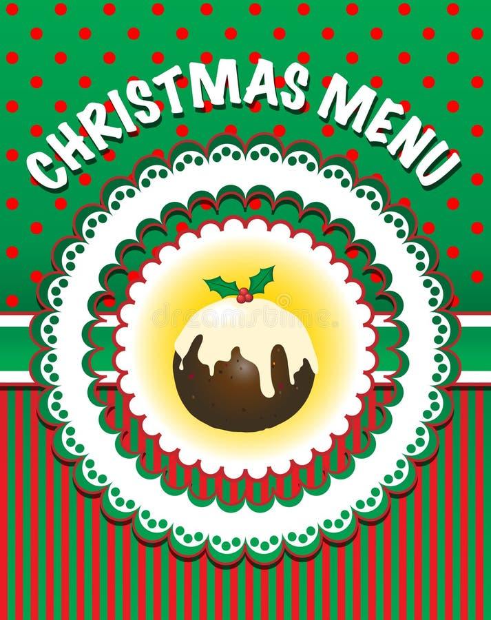 Christmas Menu template vector illustration