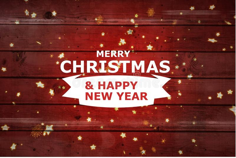 Christmas Message on Red Wooden Background Design. Digital Composite of Christmas Message on Red Wooden Background Design royalty free illustration