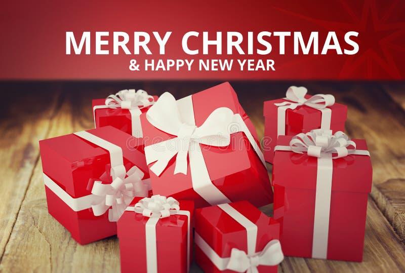 Christmas Message on Wooden Background Design. Digital Composite of Christmas Message on Wooden Background Design stock illustration