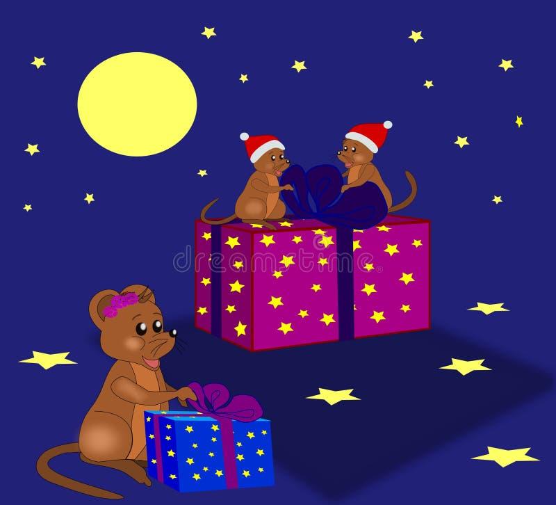 Christmas Mice stock illustration