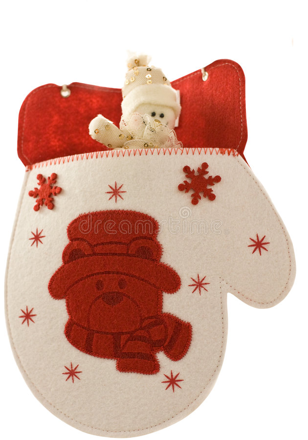 Download Christmas Mitten With Little Snowman Stock Image - Image: 7387557