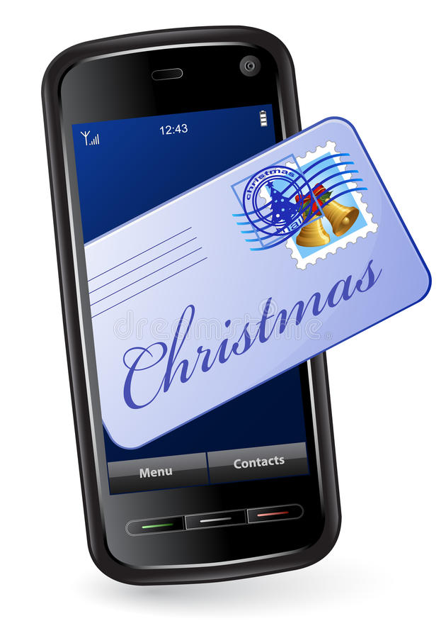 Download Christmas mobile phone stock vector. Image of december - 12078783