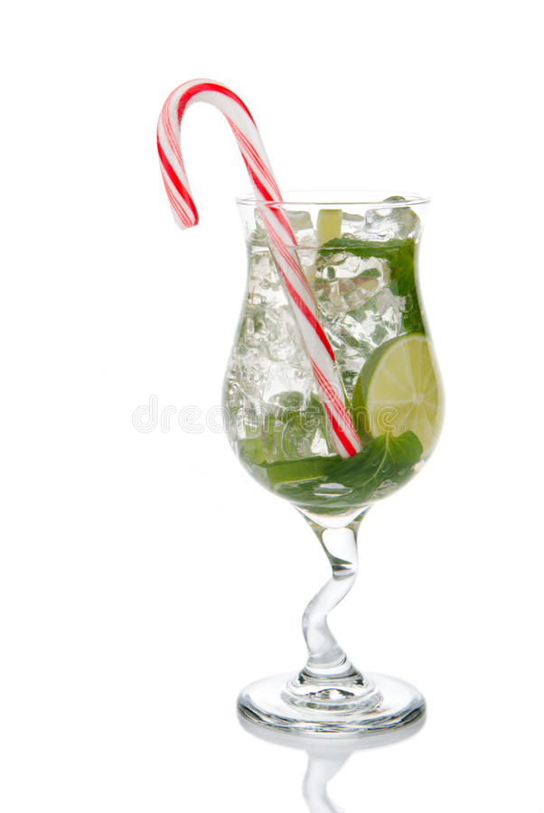 Christmas Mojito Cocktail royalty free stock images