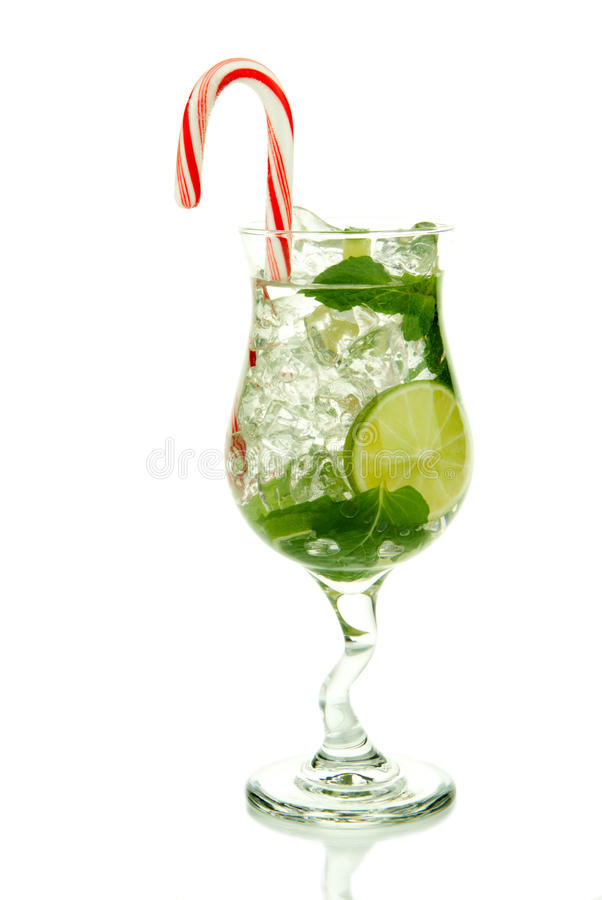 Christmas mojito cocktail stock photo