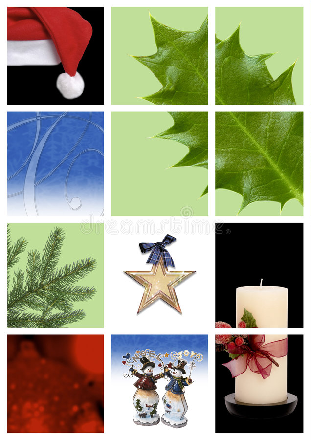 Download Christmas montage stock image. Image of frosty, santa - 3168471
