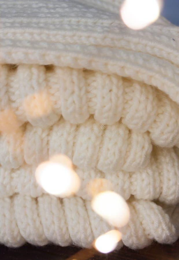 Christmas mood with Harry Potter. Warm christmas setting, light bulbs, garlands stock photos