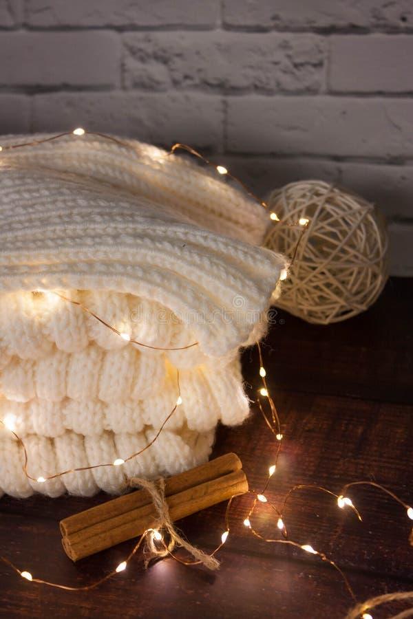Christmas mood with Harry Potter. Warm christmas setting, light bulbs, garlands royalty free stock photos