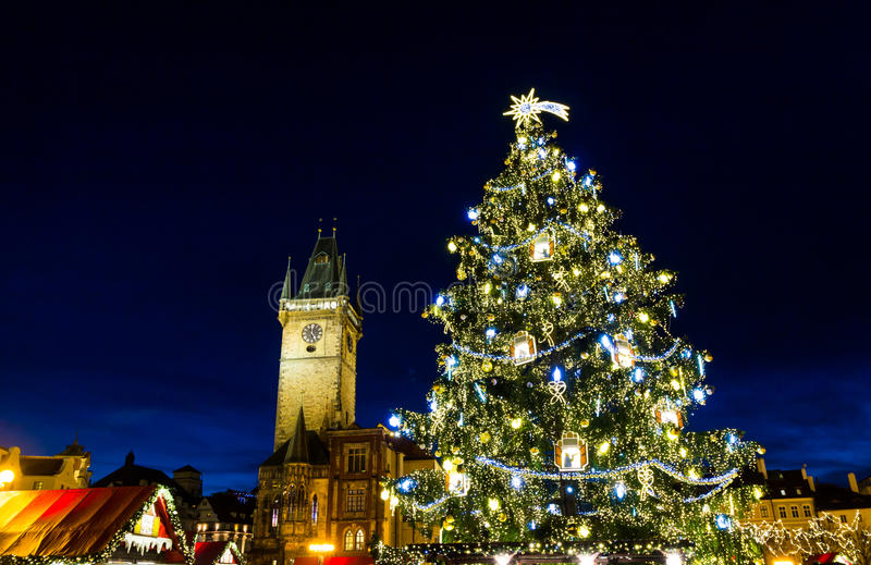 Christmas Mood on the Old Town Square, Prague, Czech Republic stock photo