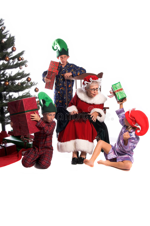 Download Christmas Morning stock photo. Image of hats, brother - 1371900