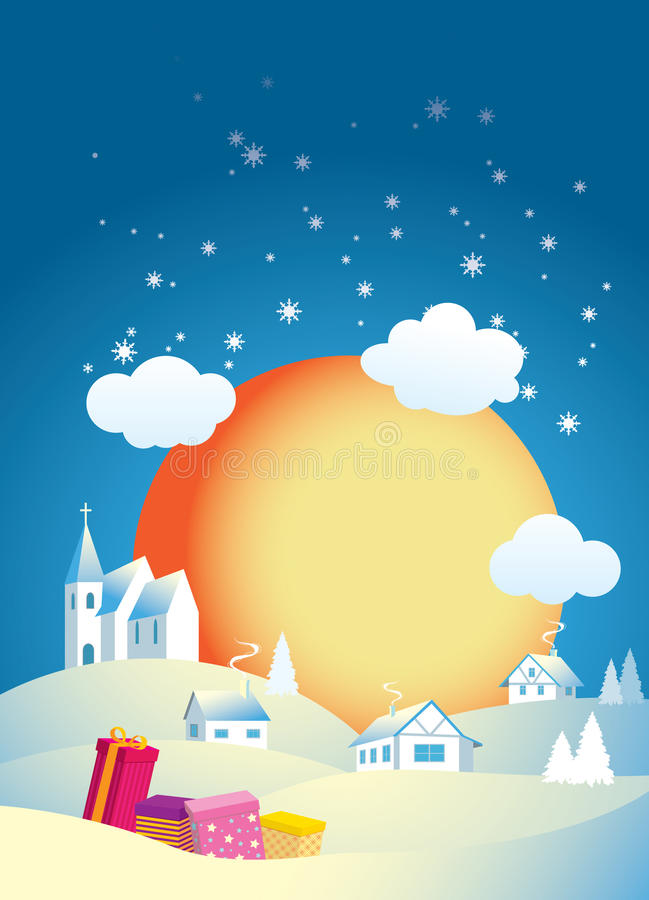 Download Christmas morning stock vector. Image of religious, landscape - 16988638