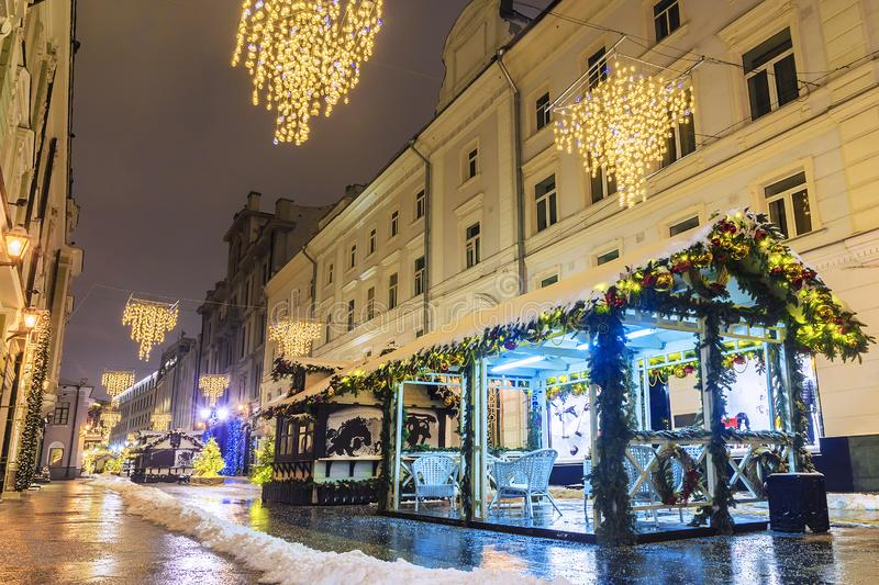 Christmas in Moscow. Christmas fairs on the streets of Moscow.  stock image