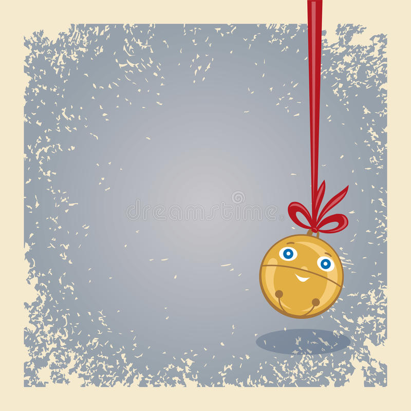 Christmas Motive - Hanging Happy Jingle Bell. Stock Photos