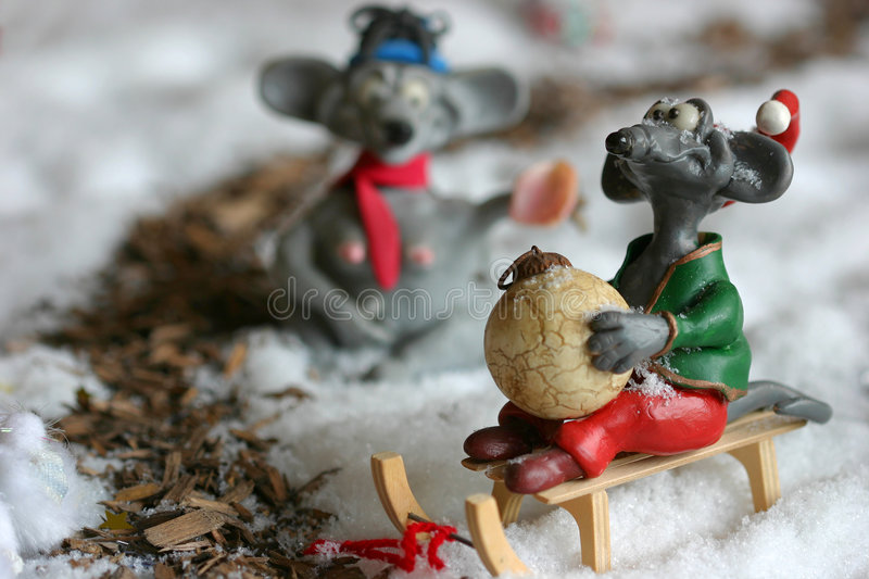 Download Christmas mouse stock photo. Image of pest, winterscene - 156748