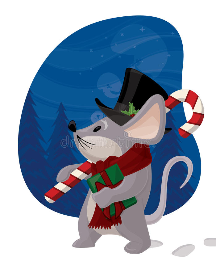 Christmas Mouse vector illustration
