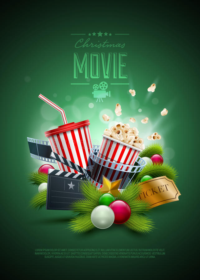 Christmas Movie concept royalty free illustration