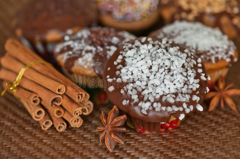 Download Christmas muffins stock photo. Image of gift, decorate - 22409070