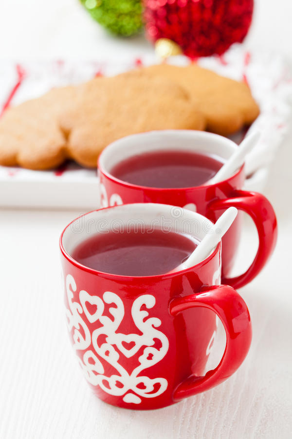 Download Christmas Mulled Wine And Gingerbread Stock Image - Image: 28073637