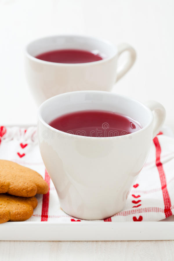 Download Christmas Mulled Wine And Gingerbread Biscuits Stock Photo - Image: 28041436