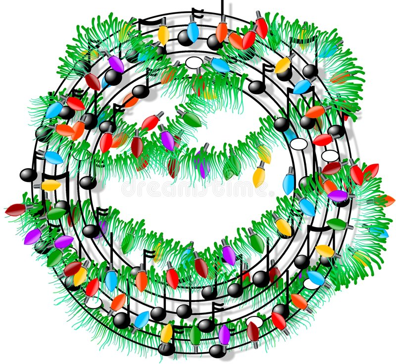 Christmas music vector illustration