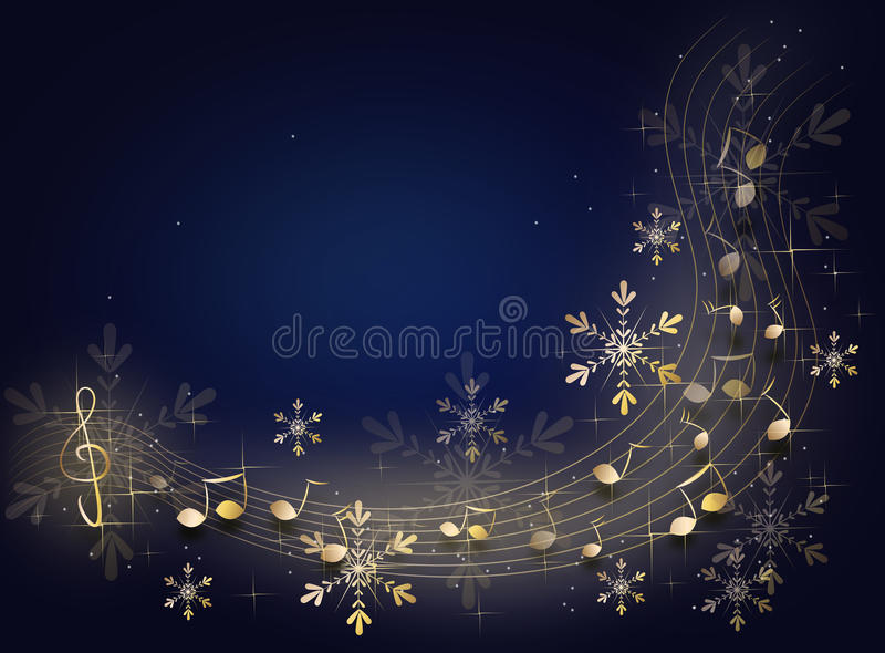 Christmas music background vector illustration