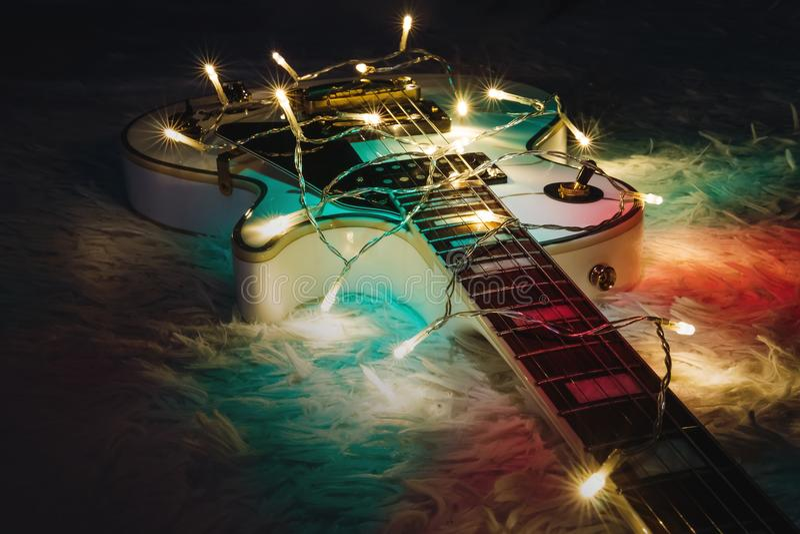 Christmas music concept. royalty free stock image