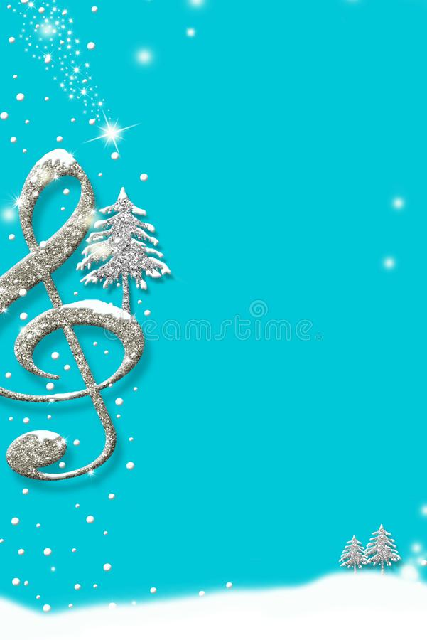 Free Christmas Musical Card, Background Invites Stock Photography - 163869012