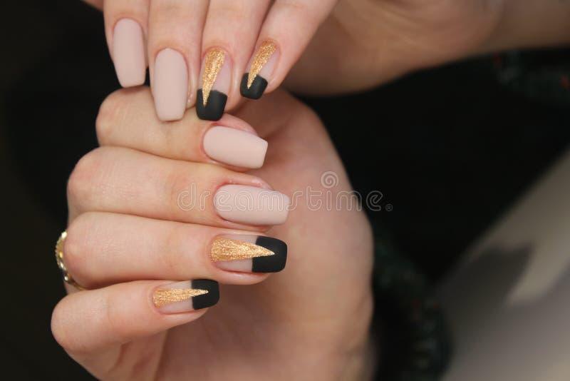 Christmas Nail art manicure royalty free stock photos