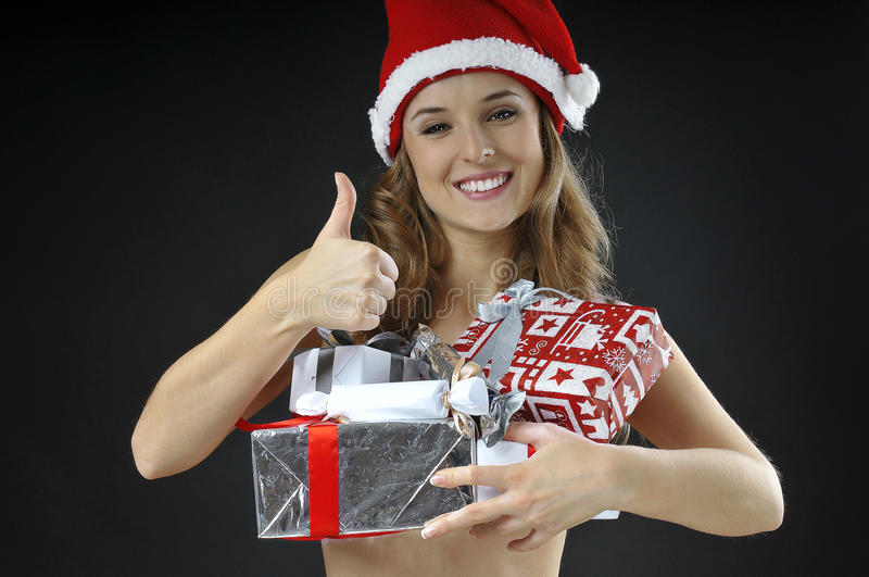 Download Christmas Naked Girl  Covered Gifts Stock Photo - Image: 27512320