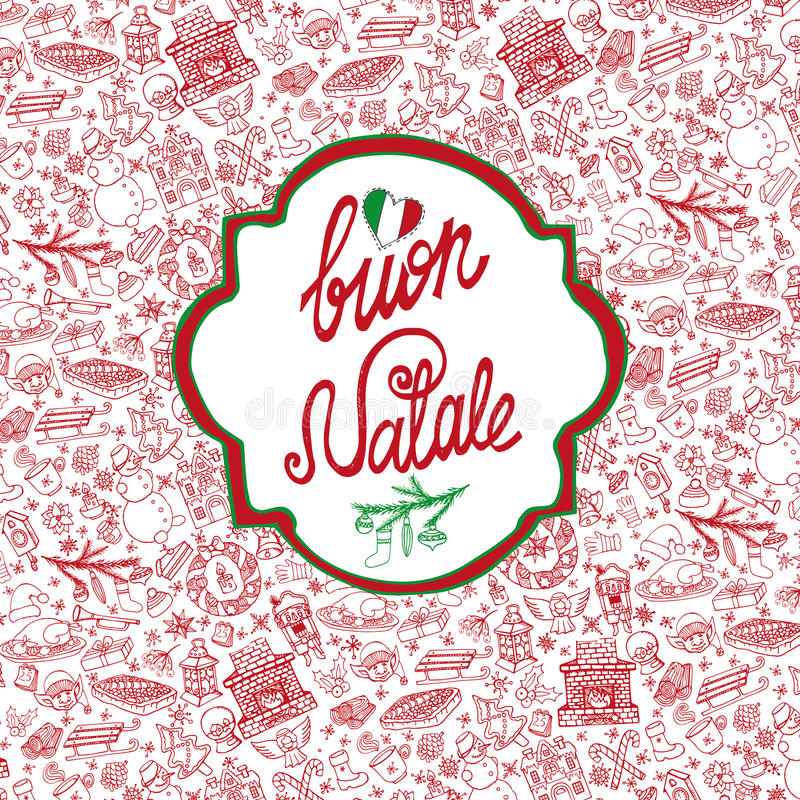 Christmas,Natale card.Pattern background,label stock illustration