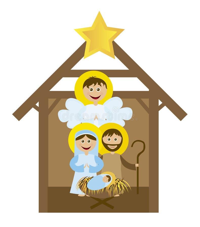 Christmas nativity royalty free illustration