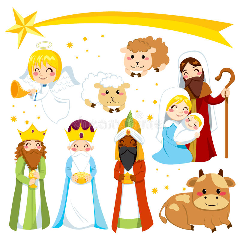 Christmas Nativity Elements vector illustration