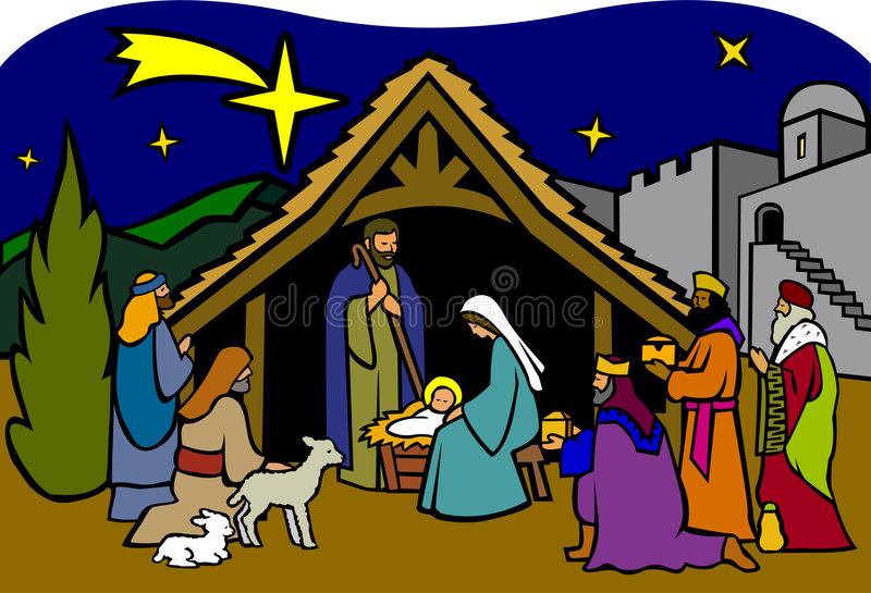 Christmas Nativity/eps royalty free stock photography