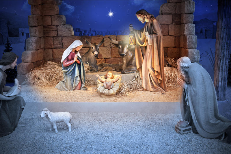 Christmas Nativity Jesus Birth stock images