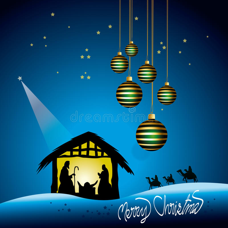 Download Christmas Nativity scene stock vector. Image of religious - 35299479