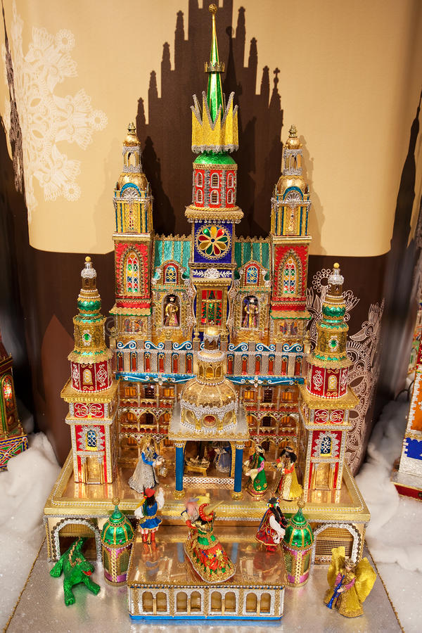 Christmas Nativity Scene, Krakow, Poland Royalty Free Stock Image