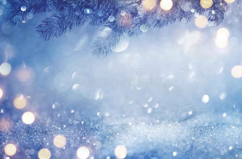 Christmas and New Year abstract winter holidays background concept royalty free stock photo