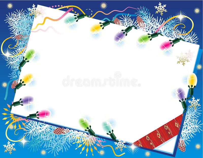 Christmas or New Year background vector illustration
