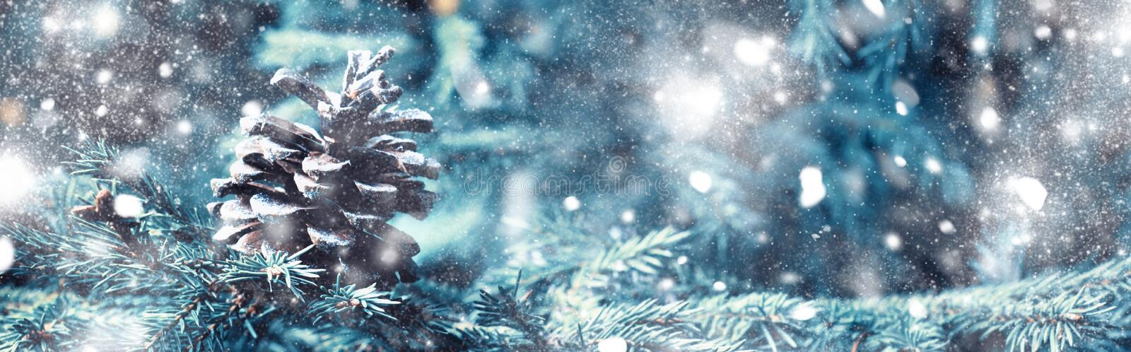 Christmas or New Year background with a festive fir tree and pin royalty free stock photography