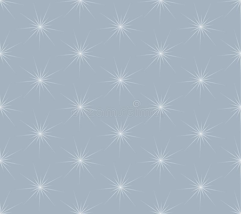 White snowflakes seamless pattern on gray background. Christmas and New Year background.Holiday Wallpaper. Winter endless background. Snowflakes seamless pattern royalty free illustration