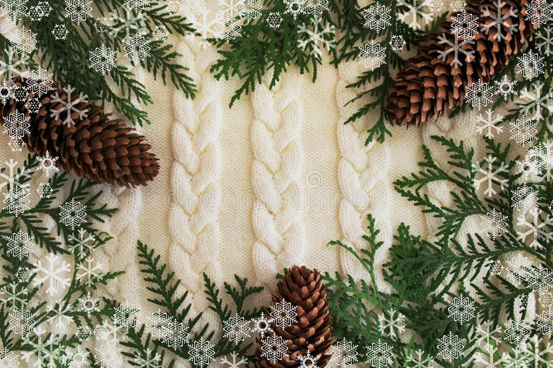 Christmas and new year background. stock photography