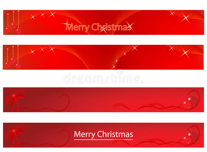 Christmas and new year banner vector illustration